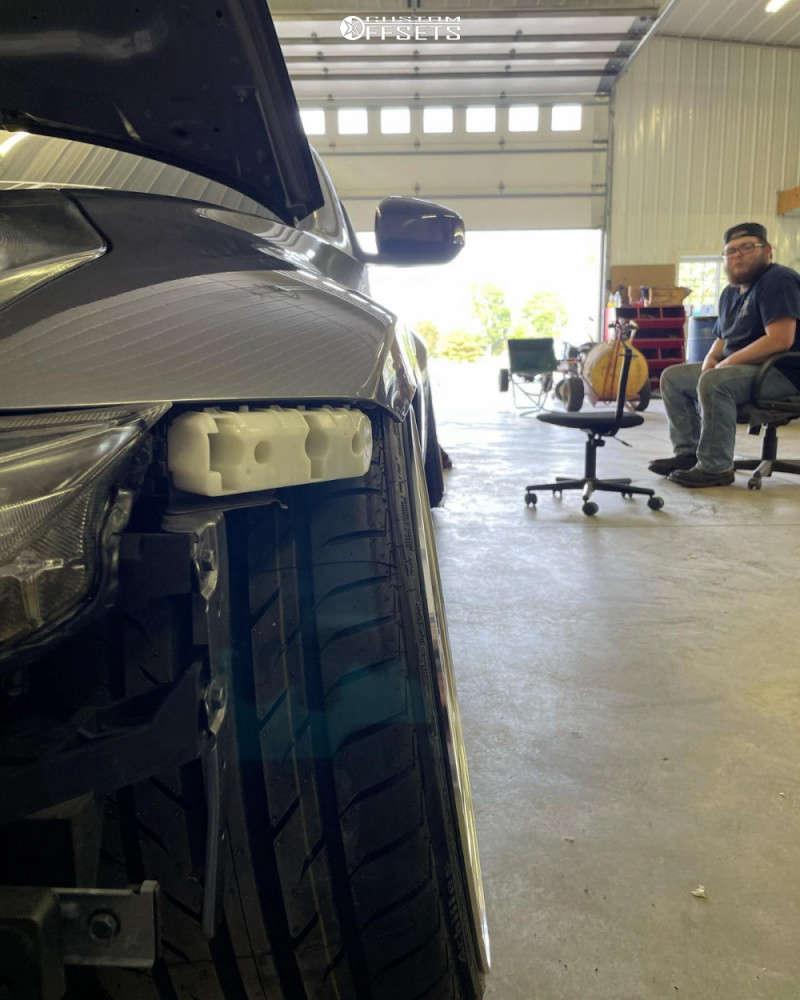 2012 Nissan 370Z Flush on 19x10 -15 offset 326 Power Yabaking Spoke & 235/35 Achilles Atr Sport 2 on Coilovers - Custom Offsets Gallery