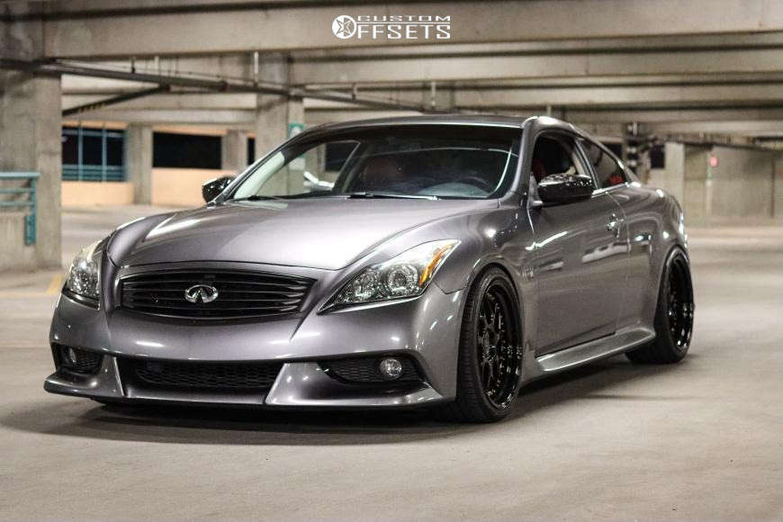 2013 Infiniti G37 Nearly Flush on 19x9.5 22 offset Aodhan DS01 & 255/35 Toyo Tires Proxes 4 Plus on Lowering Springs - Custom Offsets Gallery