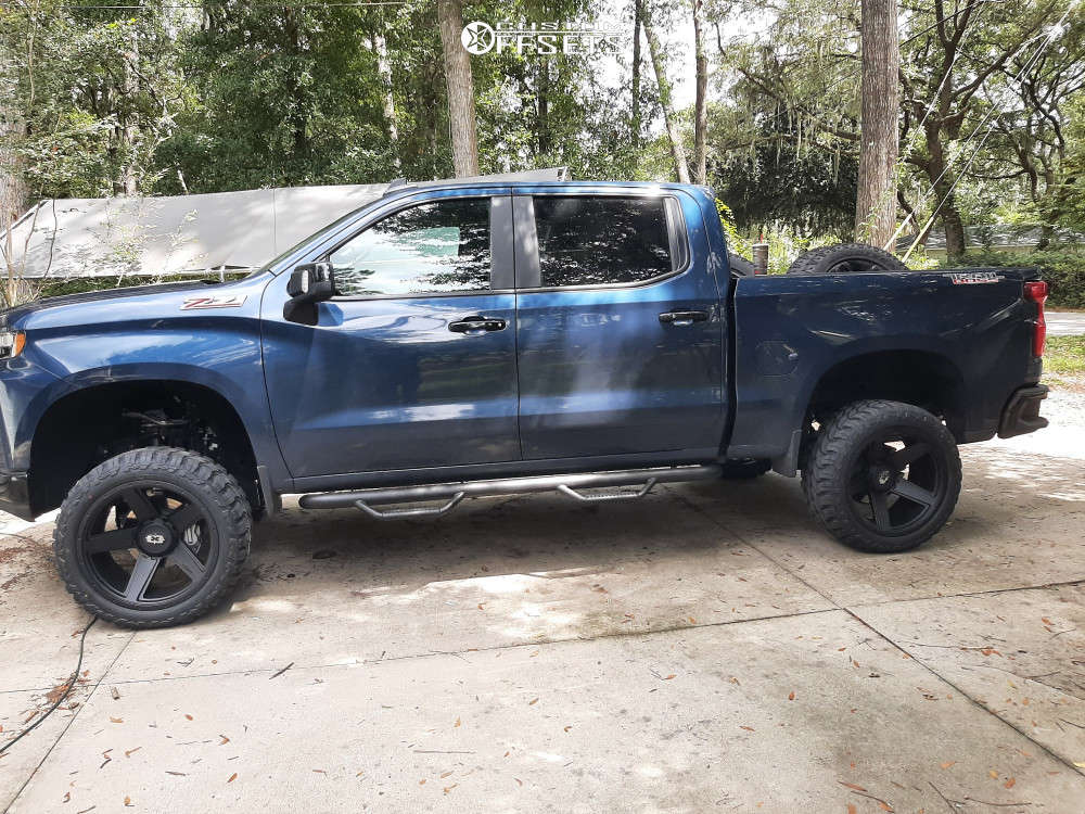 """2021 Chevrolet Silverado 1500 Super Aggressive 3""""-5"""" on 22x12 -44 offset Vision Empire & 33""""x12.5"""" Red Dirt Road Rd-6 on Suspension Lift 6"""" - Custom Offsets Gallery"""