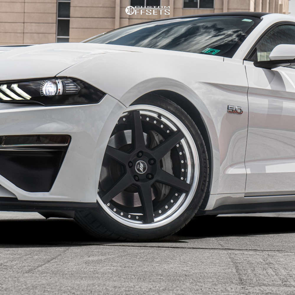 2019 Ford Mustang Nearly Flush on 20x9.5 35 offset Work Zeast St1 & 255/35 Michelin Pilot Sport 4 S on Lowering Springs - Custom Offsets Gallery