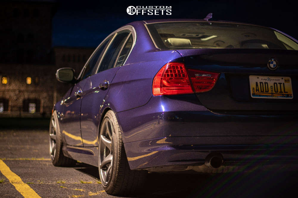 2011 BMW 335i xDrive Poke on 18x9.5 22 offset Kansei Tandem & 225/45 Kenda Vezda Touring A/s on Coilovers - Custom Offsets Gallery