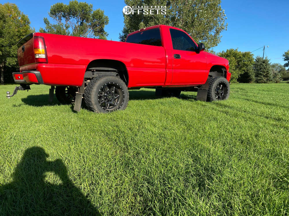 "2000 Chevrolet K1500 Aggressive > 1"" outside fender on 20x12 -44 offset RBP Avenger & 33""x12.5"" Ironman All Country Mt on Suspension Lift 6"" - Custom Offsets Gallery"