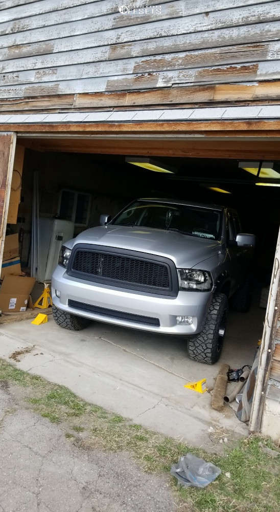 "2010 Dodge Ram 1500 Aggressive > 1"" outside fender on 20x12 -44 offset Dropstars 645mb & 35""x12.5"" Kenda Klever R/t on Suspension Lift 4"" - Custom Offsets Gallery"