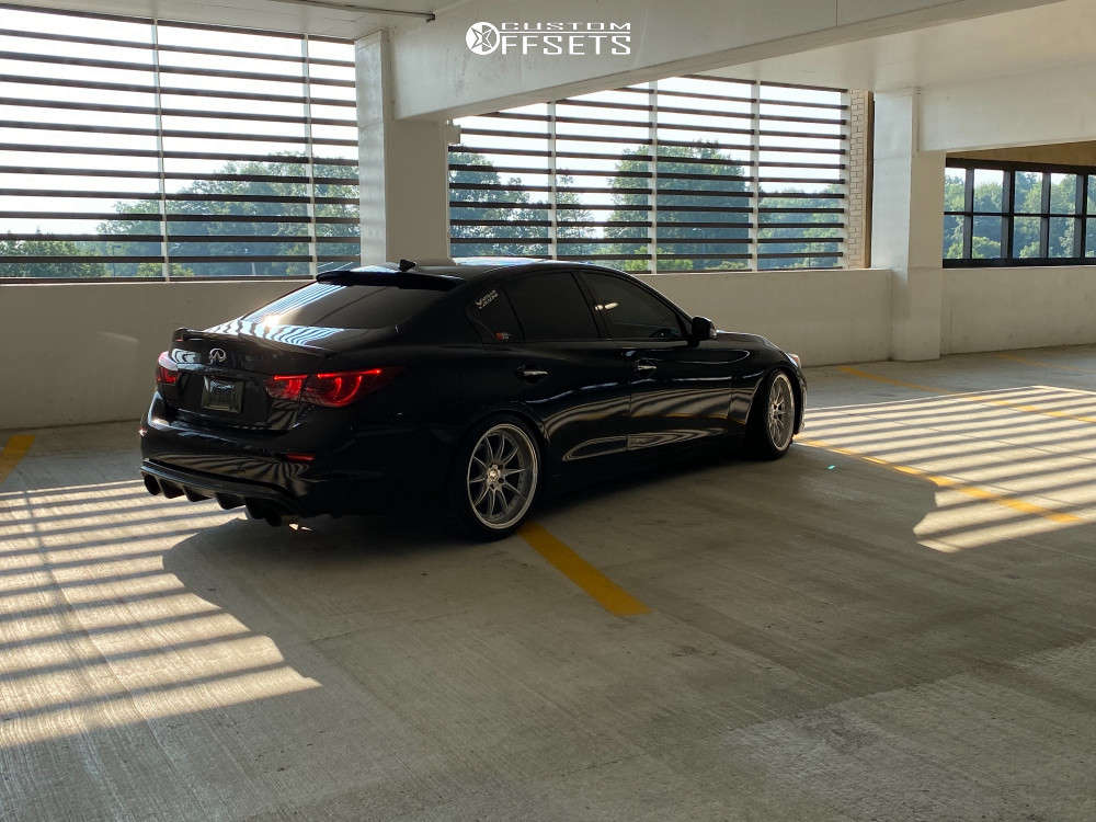 2016 Infiniti Q50 Nearly Flush on 19x10.5 22 offset Aodhan Ds07 & 255/35 Vercelli Strada Ii on Coilovers - Custom Offsets Gallery