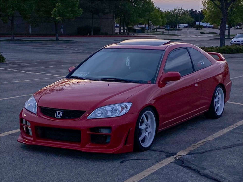 2004 Honda Civic Nearly Flush on 17x7.5 40 offset Raceline 126 & 205/40 Federal 595 on Coilovers - Custom Offsets Gallery