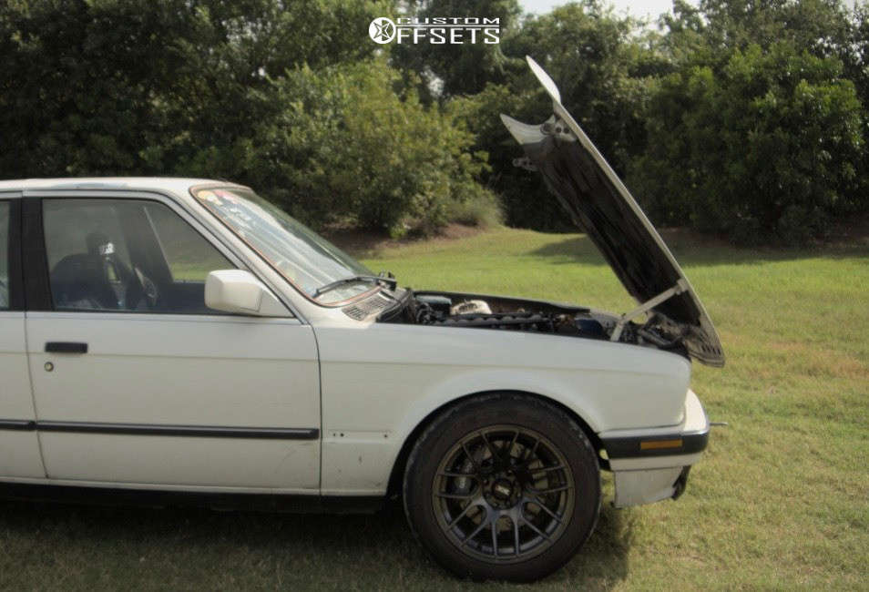 1986 BMW 325e Nearly Flush on 16x8.25 0 offset XXR 530 & 225/50 Kumho V730 on Coilovers - Custom Offsets Gallery
