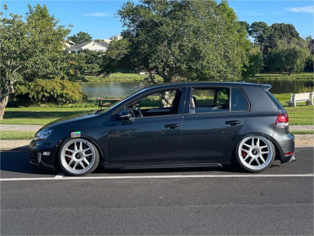 2012 Volkswagen GTI Tucked on 18x8.5 38 offset Revolve Apvd No 1219 & 215/35 Federal 595 Ss on Coilovers - Custom Offsets Gallery