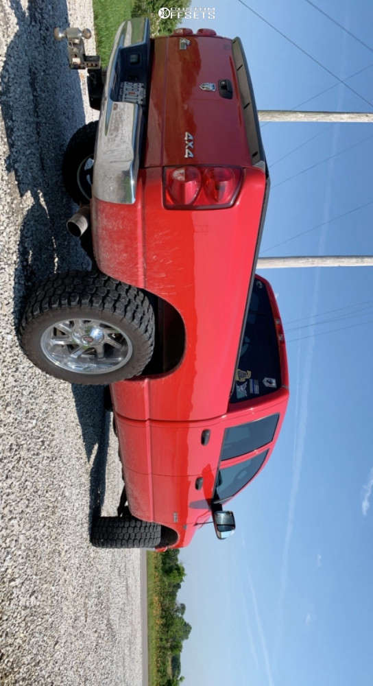 """2008 Dodge Ram 1500 Aggressive > 1"""" outside fender on 20x10 -25 offset Centerline Eliminator & 33""""x12.5"""" Ironman All Country M/t on Suspension Lift 3"""" - Custom Offsets Gallery"""