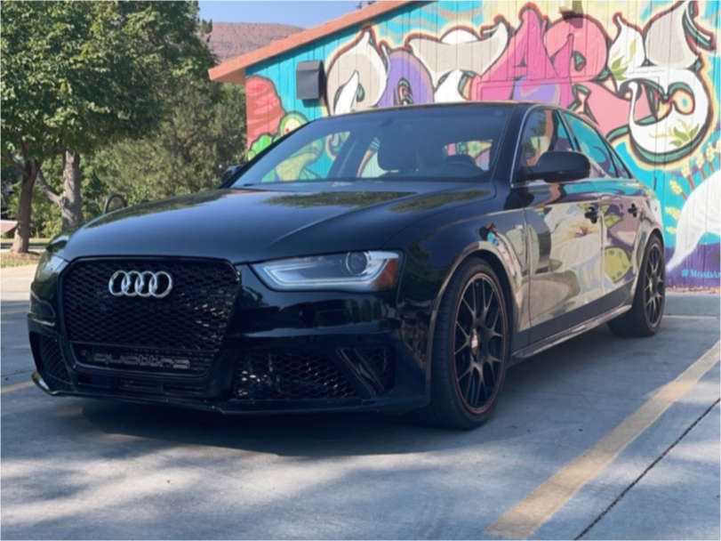2016 Audi A4 Quattro Flush on 19x8.5 48 offset BBS Chr & 245/35 Toyo Proxes 4 Plus on Lowering Springs - Custom Offsets Gallery