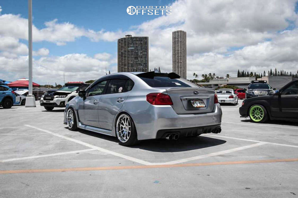 2020 Subaru WRX HellaFlush on 18x9.5 30 offset Aodhan Ds02 & 225/40 Kumho Ecsta Ps31 on Coilovers - Custom Offsets Gallery