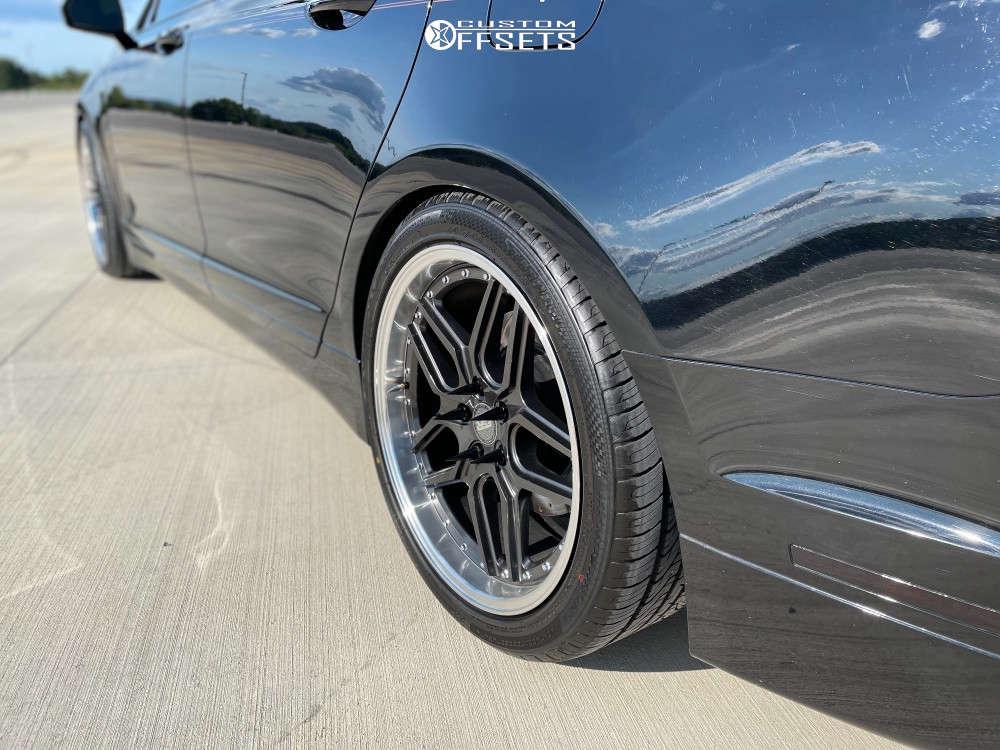 2016 Lincoln MKZ HellaFlush on 19x8.5 30 offset ESR Cs15 & 245/40 Vercelli Strada Ii on Lowering Springs - Custom Offsets Gallery