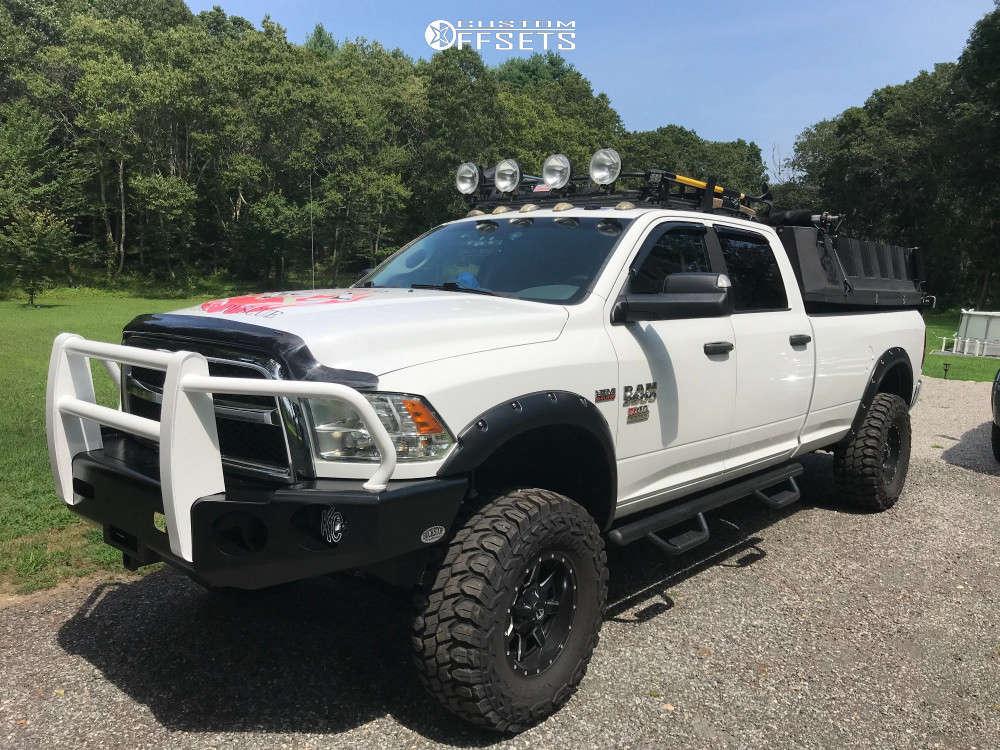 "2014 Ram 3500 Aggressive > 1"" outside fender on 17x10 -12 offset Fuel Maverick D538 & 37""x12.5"" Gladiator Xcomp Mt on Suspension Lift 6"" - Custom Offsets Gallery"