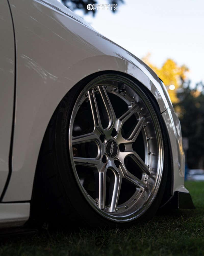 2016 Volkswagen Jetta Tucked on 18x8.5 30 offset ESR Cs15 & 225/40 Firestone Firehawk Indy 500 on Air Suspension - Custom Offsets Gallery
