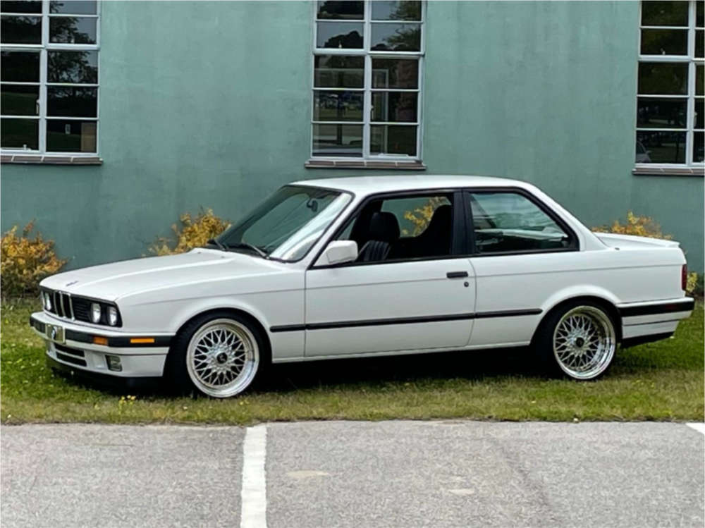 1991 BMW 318is Flush on 17x8.5 25 offset JNC Jnc004 & 205/40 Accelera All Season on Coilovers - Custom Offsets Gallery