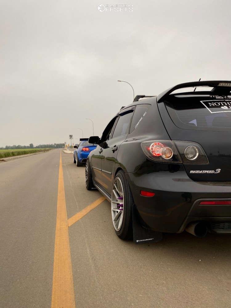 2008 Mazda MazdaSpeed3 Poke on 18x9.5 22 offset Artisa ArtFormed Elder & 235/40 Cooper Zeon Zpt on Coilovers - Custom Offsets Gallery