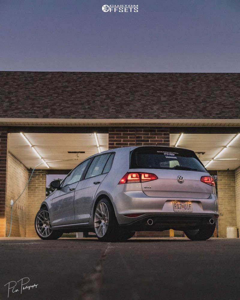 2015 Volkswagen GTI Flush on 18x9.5 35 offset Aodhan Ah-x & 235/40 Toyo Tires Extensa Hp Ii on Stock Suspension - Custom Offsets Gallery