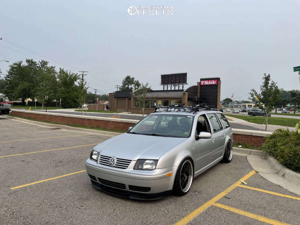2003 Volkswagen Jetta Flush on 18x8 38 offset ASA Ar1 & 215/35 Federal 595 Ss on Coilovers - Custom Offsets Gallery