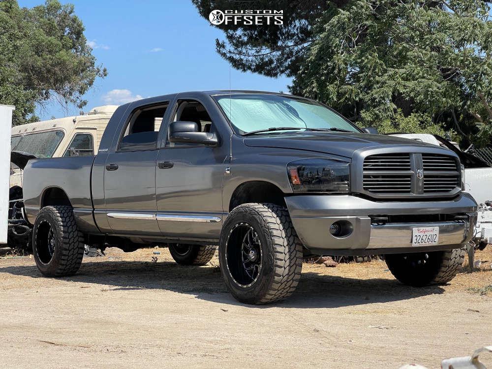 "2006 Dodge Ram 2500 Super Aggressive 3""-5"" on 20x12 -44 offset TIS 544bm & 35""x12.5"" Falken A/t3 on Suspension Lift 6"" - Custom Offsets Gallery"