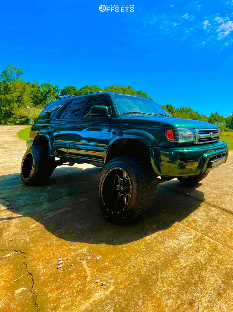 """1999 Toyota 4Runner Super Aggressive 3""""-5"""" on 20x12 -44 offset Fuel Maverick D536 & 33""""x12.5"""" AMP Mud Terrain Attack M/t A on Suspension Lift 3"""" - Custom Offsets Gallery"""