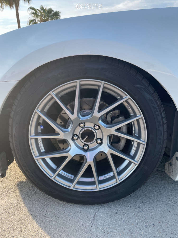 2013 Ford Mustang Nearly Flush on 18x8 45 offset Enkei Tm7 & 235/50 Falken Pro G5 Sport A/s on Coilovers - Custom Offsets Gallery