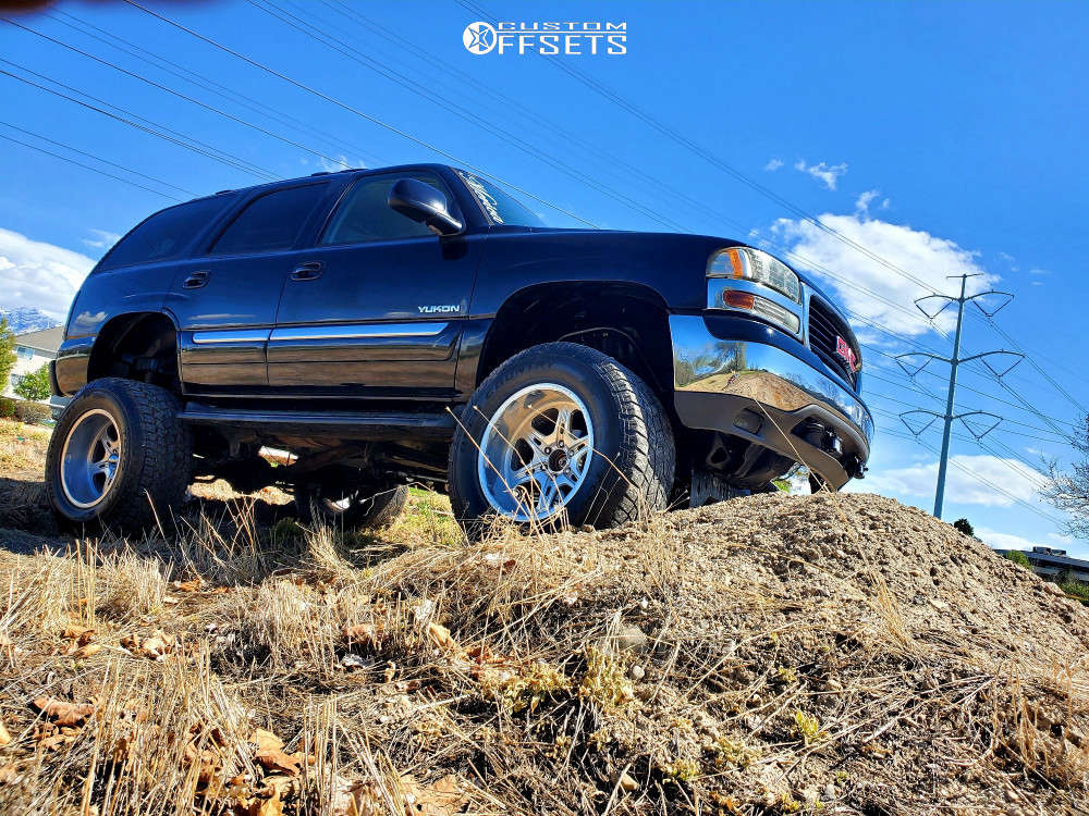 """2006 GMC Yukon Super Aggressive 3""""-5"""" on 20x12 -51 offset Weld Racing Cheyenne & 37""""x13.5"""" Toyo Tires Open Country A/t Ii on Suspension Lift 8"""" - Custom Offsets Gallery"""