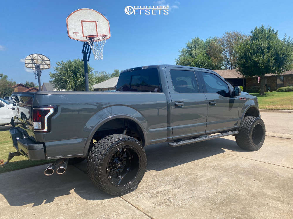 """2016 Ford F-150 Super Aggressive 3""""-5"""" on 22x14 -76 offset Fuel Hostage D531 & 375/45 Nitto Trail Grappler on Suspension Lift 6"""" - Custom Offsets Gallery"""