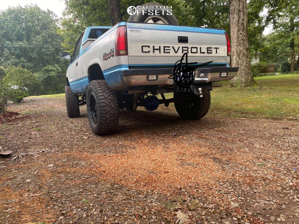"1994 Chevrolet K1500 Super Aggressive 3""-5"" on 18x9 0 offset Vision Nemesis 111 & 35""x12.5"" Venom Power Terra Hunter R/t on Suspension Lift 6"" - Custom Offsets Gallery"
