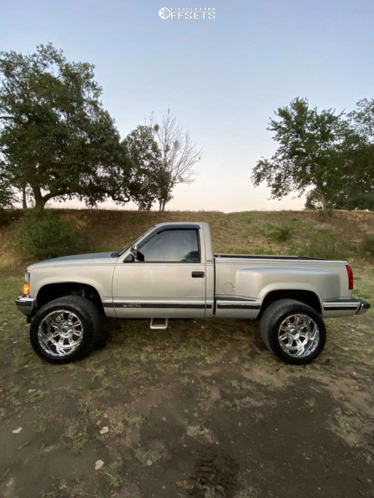 """1990 Chevrolet K1500 Super Aggressive 3""""-5"""" on 20x12 -44 offset XD Riot & 33""""x12.5"""" Toyo Open Country A/t Iii on Stock - Custom Offsets Gallery"""