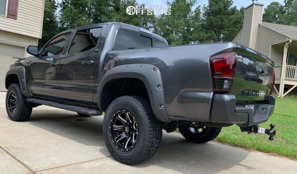 """2019 Toyota Tacoma Flush on 17x9 -6 offset Pro Comp Series 76 & 32""""x9.5"""" Cooper Discoverer on Leveling Kit & Body Lift - Custom Offsets Gallery"""