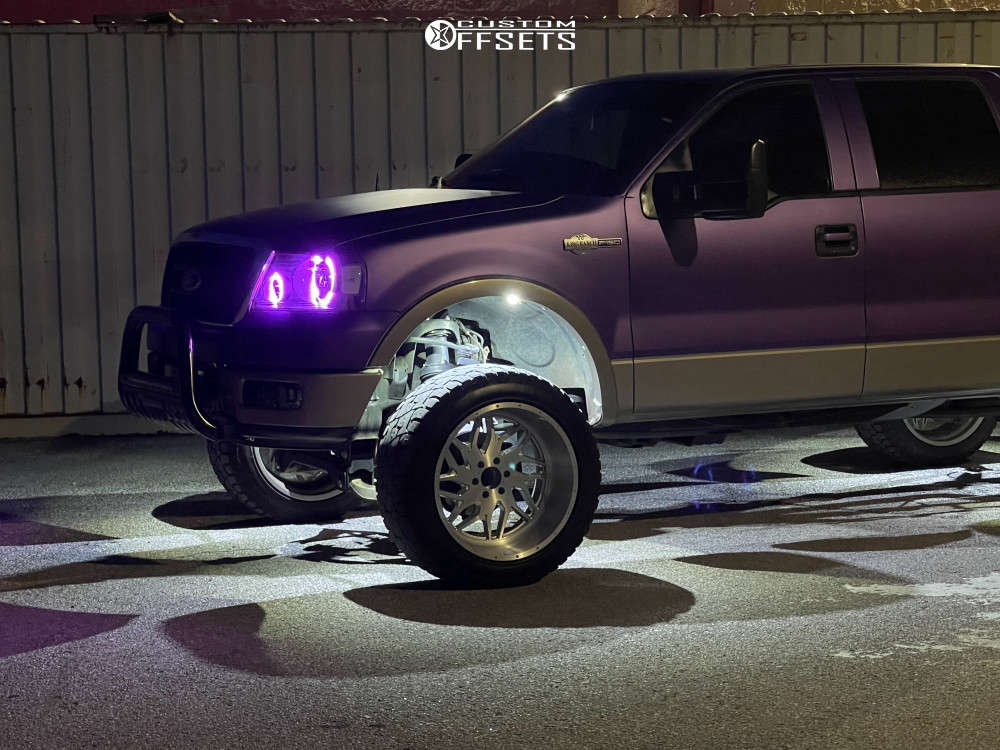 """2005 Ford F-150 Super Aggressive 3""""-5"""" on 22x12 -44 offset Xtreme Force Xf2 & 35""""x12.5"""" Sure Trac Wide Climber R/t on Suspension Lift 6"""" - Custom Offsets Gallery"""
