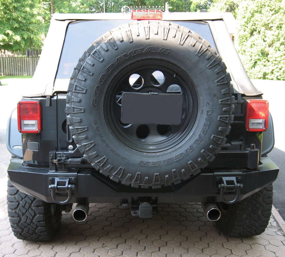 """2008 Jeep Wrangler Aggressive > 1"""" outside fender on 17x9 -12 offset Mickey Thompson Classic Iii & 315/70 Goodyear All Terrain on Suspension Lift 2.5"""" - Custom Offsets Gallery"""