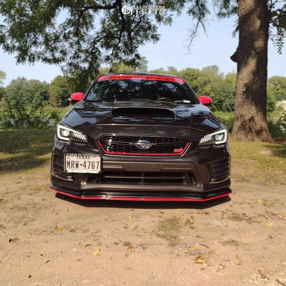 2019 Subaru WRX STI Flush on 18x9.5 38 offset Rays 57 Xtc & 255/40 Michelin Pilot Sport 4 on Coilovers - Custom Offsets Gallery