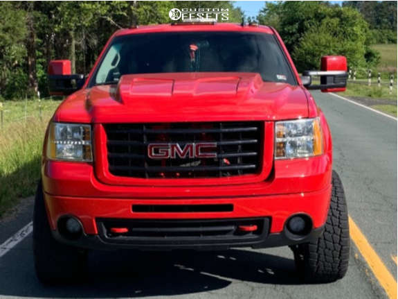 """2008 GMC Sierra 2500 HD Super Aggressive 3""""-5"""" on 20x10 -25 offset American Force Trax Ss & 33""""x12.5"""" Nitto Terra Grappler G2 on Leveling Kit - Custom Offsets Gallery"""