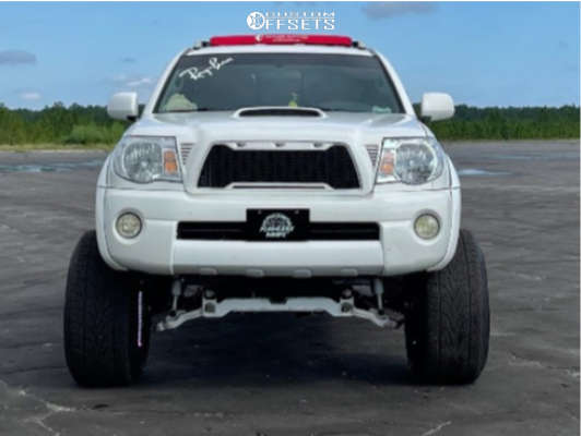 """2005 Toyota Tacoma Super Aggressive 3""""-5"""" on 24x14 -73 offset Hardcore Offroad Hc17 & 33""""x12.5"""" Falken Wildpeak At Trail on Suspension Lift 8.5"""" - Custom Offsets Gallery"""