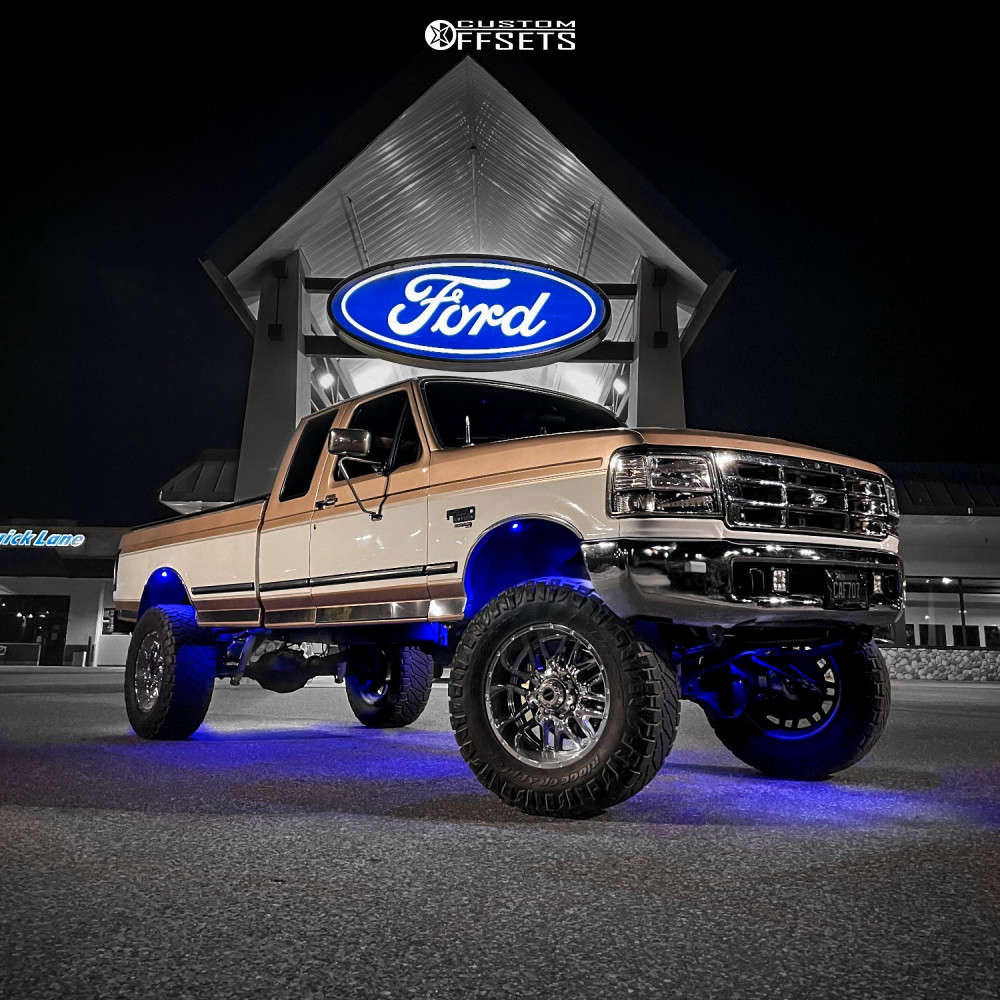 """1997 Ford F-250 Super Aggressive 3""""-5"""" on 20x10 -25 offset Ultra Hunter & 37""""x13.5"""" Nitto Ridge Grappler on Suspension Lift 6.5"""" - Custom Offsets Gallery"""
