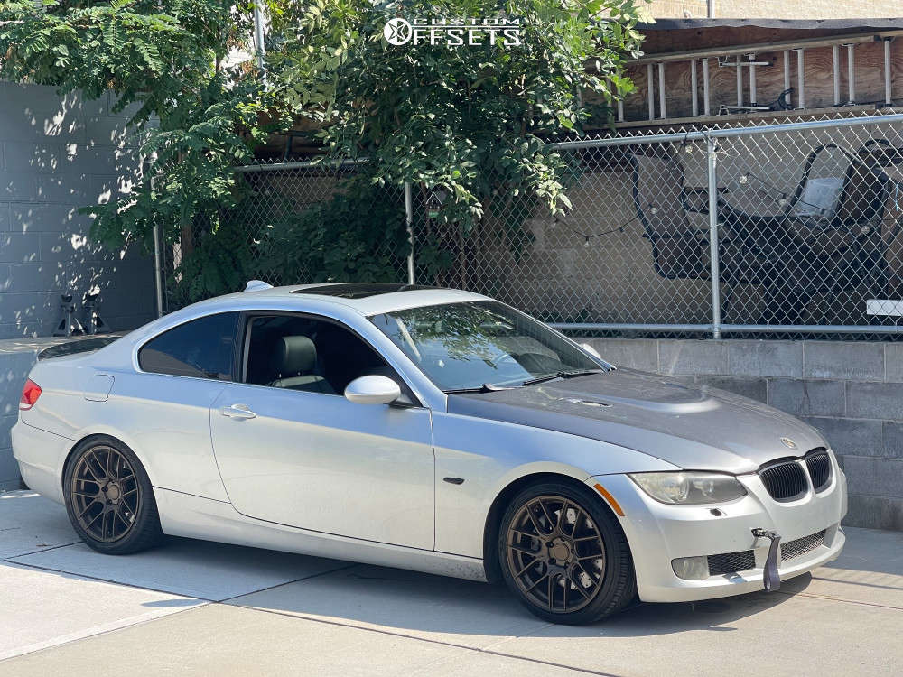 2008 BMW 335i Tucked on 18x8.5 35 offset Aodhan Ah-x & 225/40 Lexani Lxuhp-207 on Stock Suspension - Custom Offsets Gallery