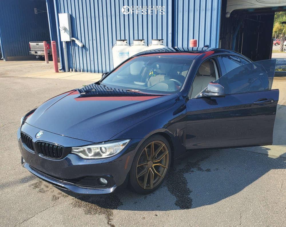 2015 BMW 428i xDrive Gran Coupe Nearly Flush on 19x8.5 40 offset XXR 559 & 235/40 Barum Bravuris 5hm on Stock - Custom Offsets Gallery