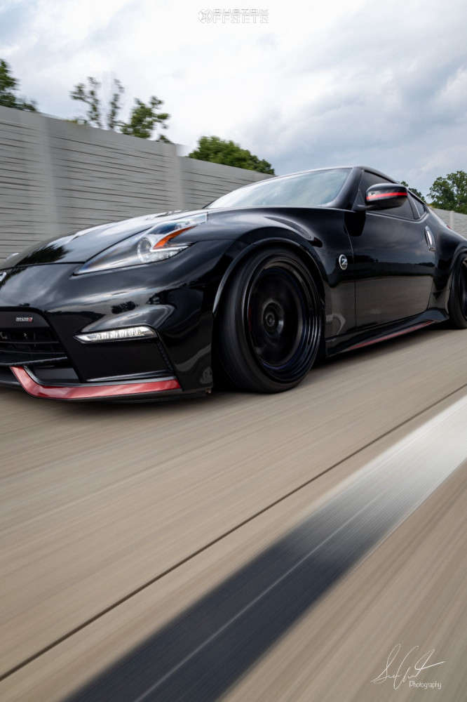 2020 Nissan 370Z Poke on 19x10 -6 offset BC FORGED Mle72 & 235/35 Hankook Ventus V12 Evo 2 on Coilovers - Custom Offsets Gallery