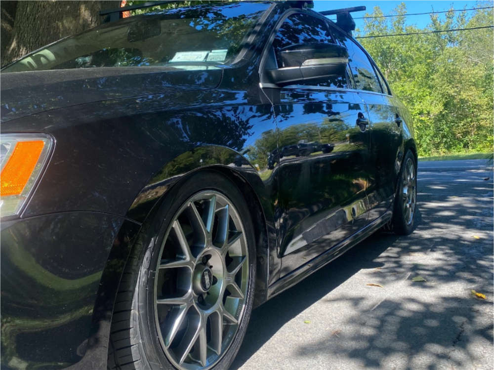2015 Volkswagen Jetta Tucked on 17x7.5 45 offset BBS Xr & 225/45 Toyo Tires Extensa Hp Ii on Coilovers - Custom Offsets Gallery