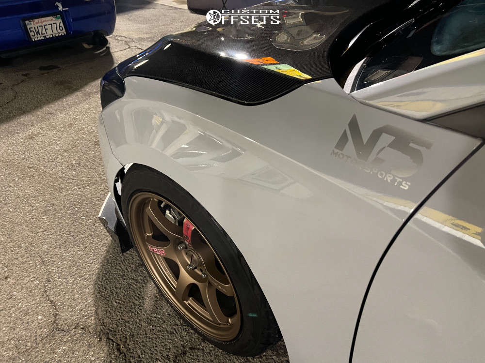 2020 Hyundai Veloster Flush on 17x9 38 offset Rays Engineering 57cr & 235/45 Firestone Firehawk Indy 500 on Coilovers - Custom Offsets Gallery