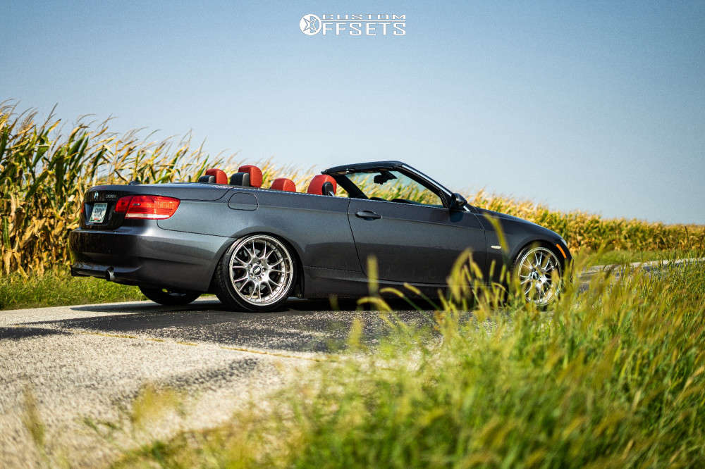 2007 BMW 335i Flush on 19x8.5 18 offset BBS Ck & 215/35 Haida Hd927 on Coilovers - Custom Offsets Gallery