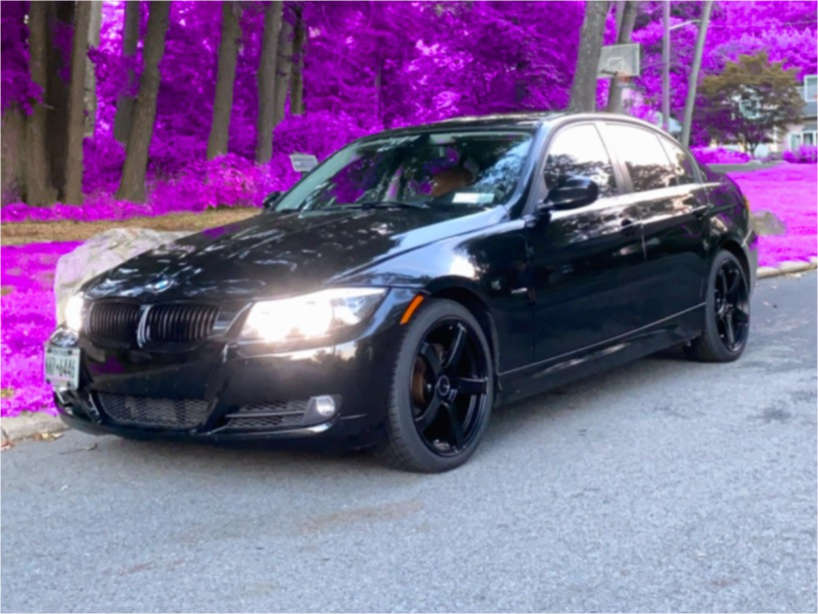 2011 BMW 328i xDrive Tucked on 18x8 32 offset Enkei Kojin & 225/40 Continental Extreme Contact Dws06 on Stock Suspension - Custom Offsets Gallery