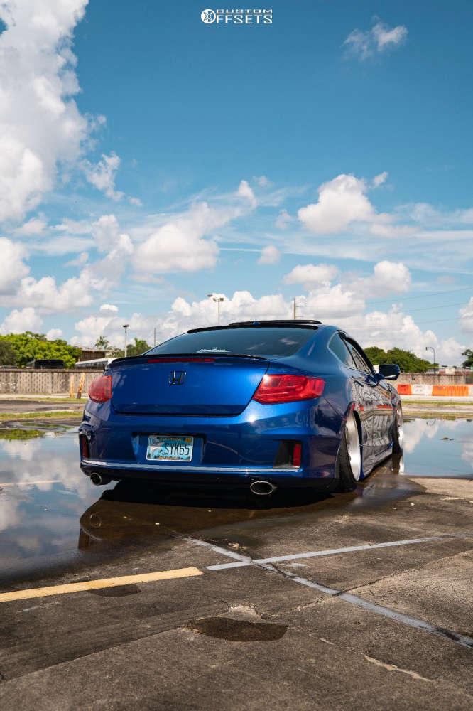 2015 Honda Accord Tucked on 19x9.5 22 offset ESR Cs12 & 225/35 Delinte D7 Thunder on Air Suspension - Custom Offsets Gallery
