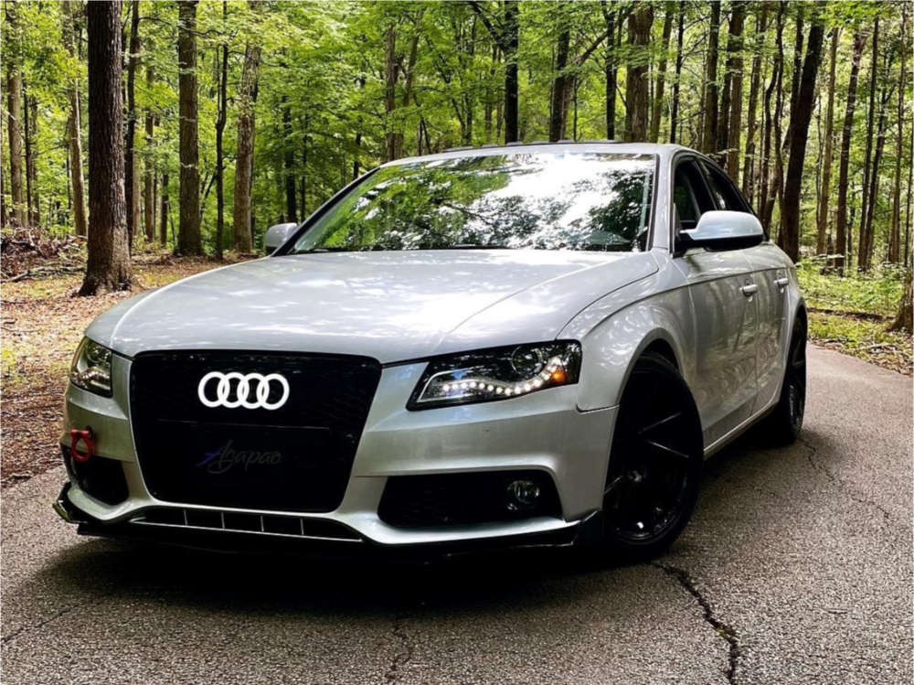 2010 Audi A4 Quattro Nearly Flush on 18x8.5 45 offset F1R F29 & 245/40 Falken Ziex Ze960 A/s on Lowering Springs - Custom Offsets Gallery