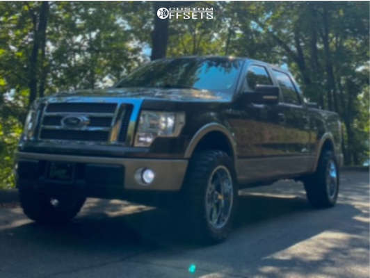 """2009 Ford F-150 Super Aggressive 3""""-5"""" on 20x10 -29 offset Extreme Force Xf10 & 33""""x12.5"""" Federal Couragia M/t on Stock - Custom Offsets Gallery"""