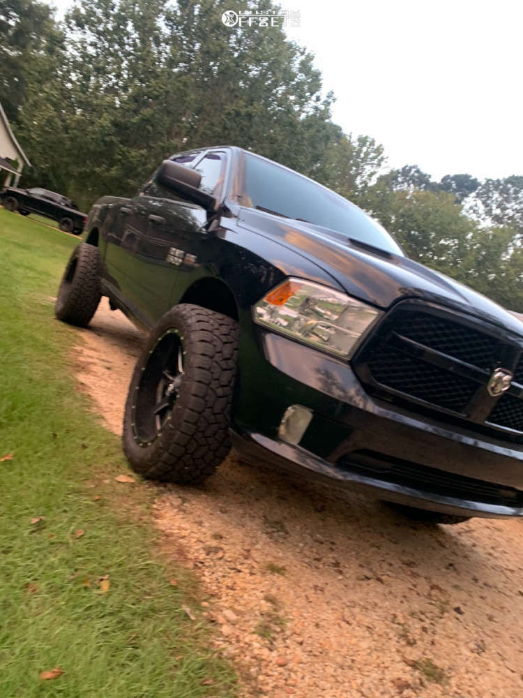 """2013 Ram 1500 Super Aggressive 3""""-5"""" on 22x10 -10 offset Fuel Maverick D538 & 35""""x10.5"""" Nitto Open Country A/t Iii on Suspension Lift 2.5"""" - Custom Offsets Gallery"""