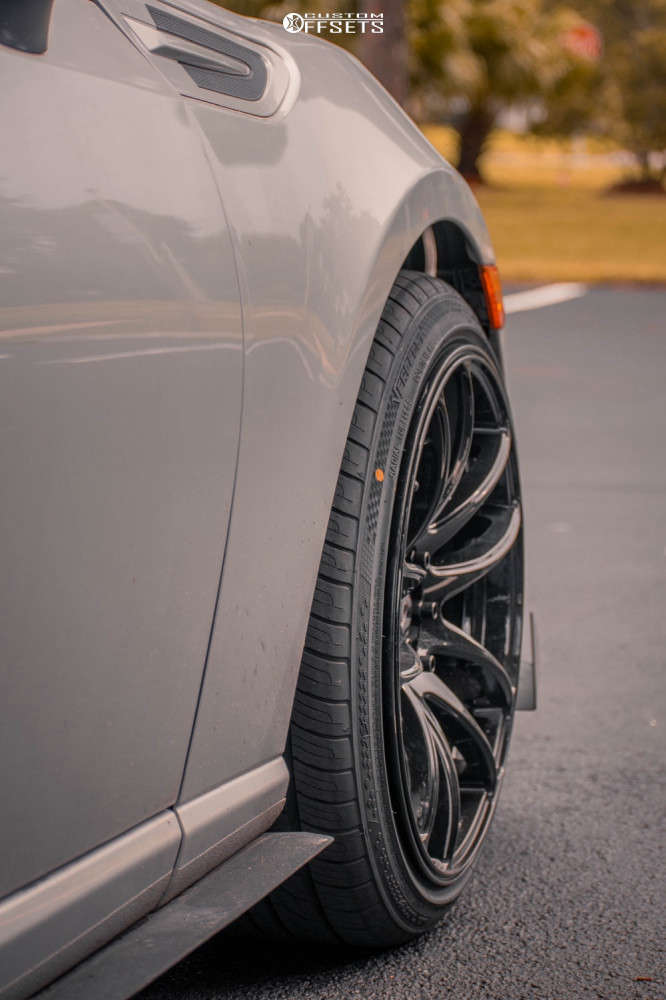 2014 Subaru BRZ Poke on 18x9.5 35 offset Vors Tr4 & 225/40 Vercelli Strada Ii on Stock Suspension - Custom Offsets Gallery