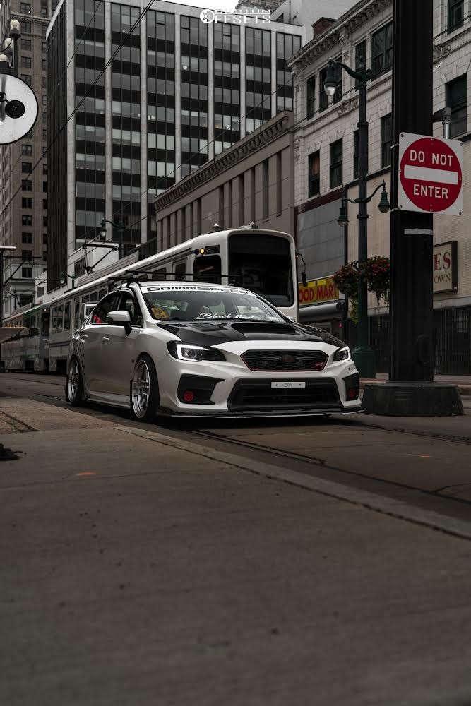2020 Subaru WRX STI Flush on 18x9.5 35 offset ESR Cr5 & 215/40 Cosmo Mucho Macho on Coilovers - Custom Offsets Gallery
