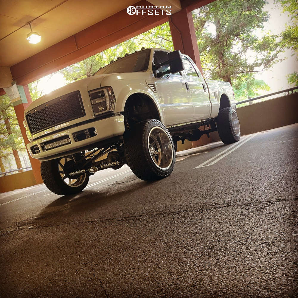 """2009 Ford F-250 Super Aggressive 3""""-5"""" on 24x14 -76 offset American Force Jade Ss & 40""""x15.5"""" Fab Fours Kymera on Suspension Lift 8"""" - Custom Offsets Gallery"""