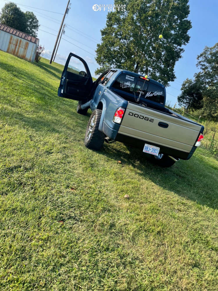"""2004 Dodge Dakota Super Aggressive 3""""-5"""" on 22x12 32 offset Rev Replicas 586 & 35""""x12.5"""" Toyo Open Country M/t on Suspension Lift 3"""" - Custom Offsets Gallery"""